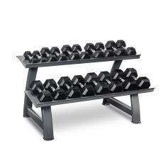 Titanium Strength Set de Halteres Hexagonais + Rack (2kg - 20kg)